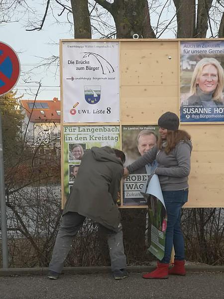 Plakatierung Kommunalwahlkampf